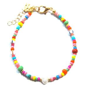 Armbandje Miyuki Rocailles color beads